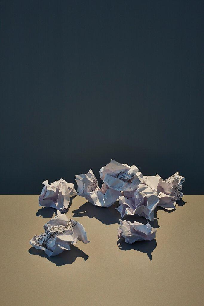 Zerknülltes Papier