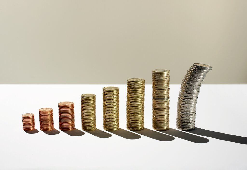 Geldmünzenstapel
