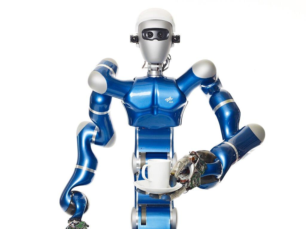 Roboter mit Kaffee